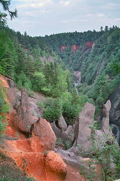 Great Canyon in Changbai Mountain stock photo