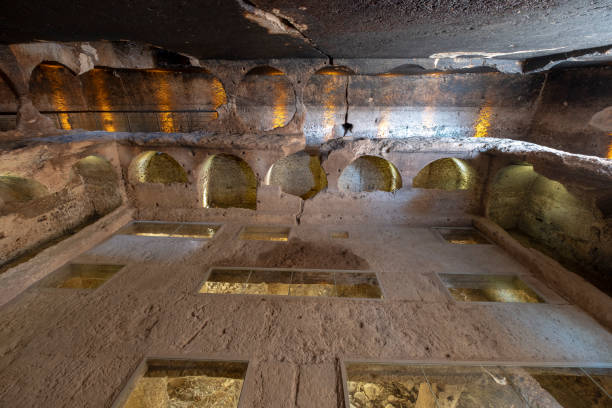 Great Catacomb of Dara Ancient city in Mardin, Turkey stock photo