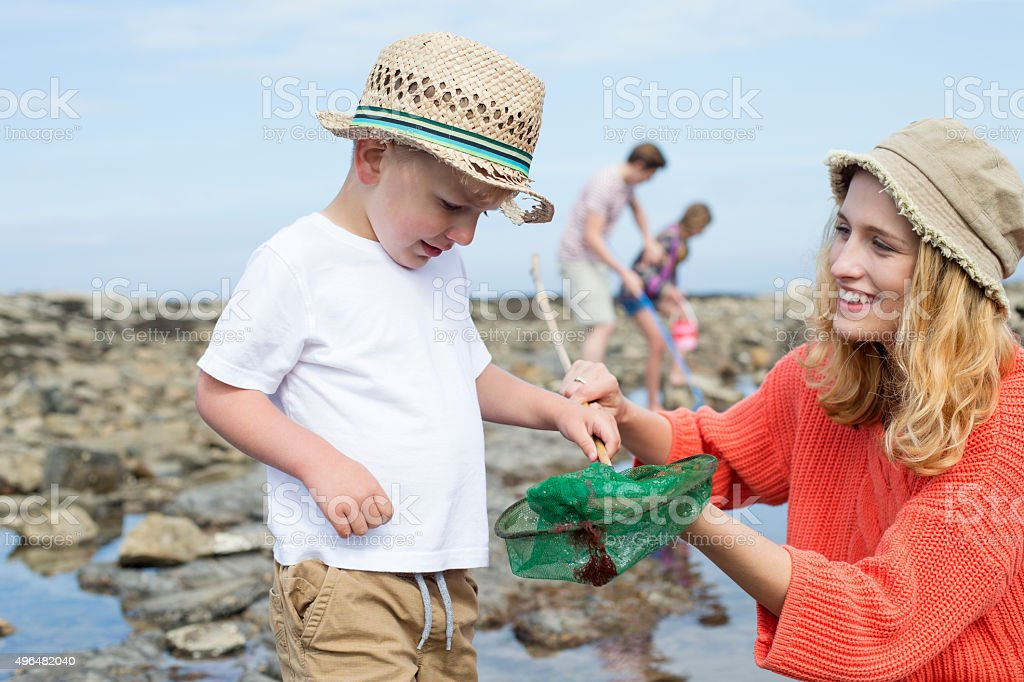 Great Catch Mammy! stock photo
