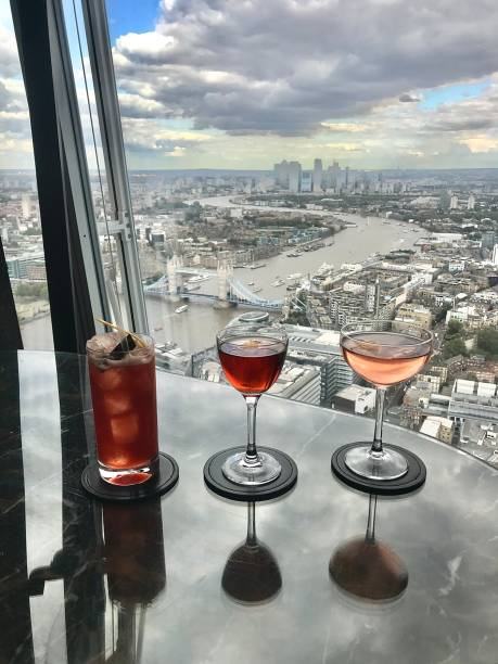 Great cocktails with a great view. stock photo