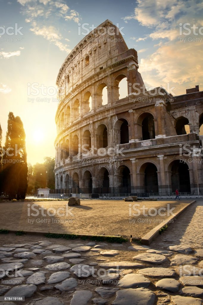 Great Colosseum in morning stock photo