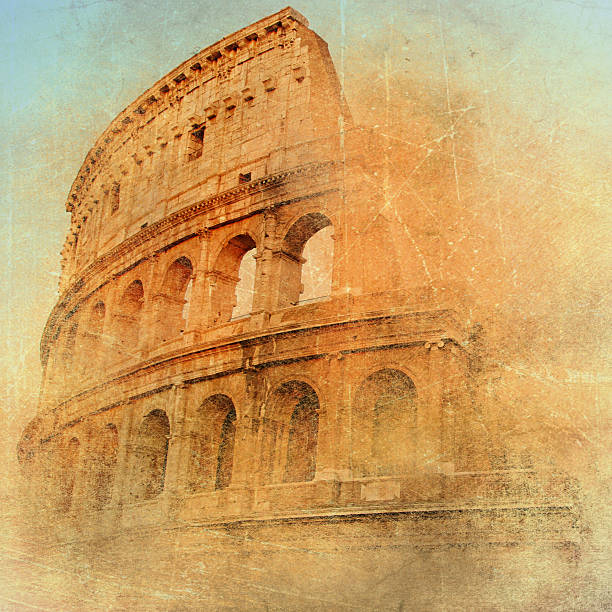 great Colosseum artistic vintage picture ancient rome stock pictures, royalty-free photos & images