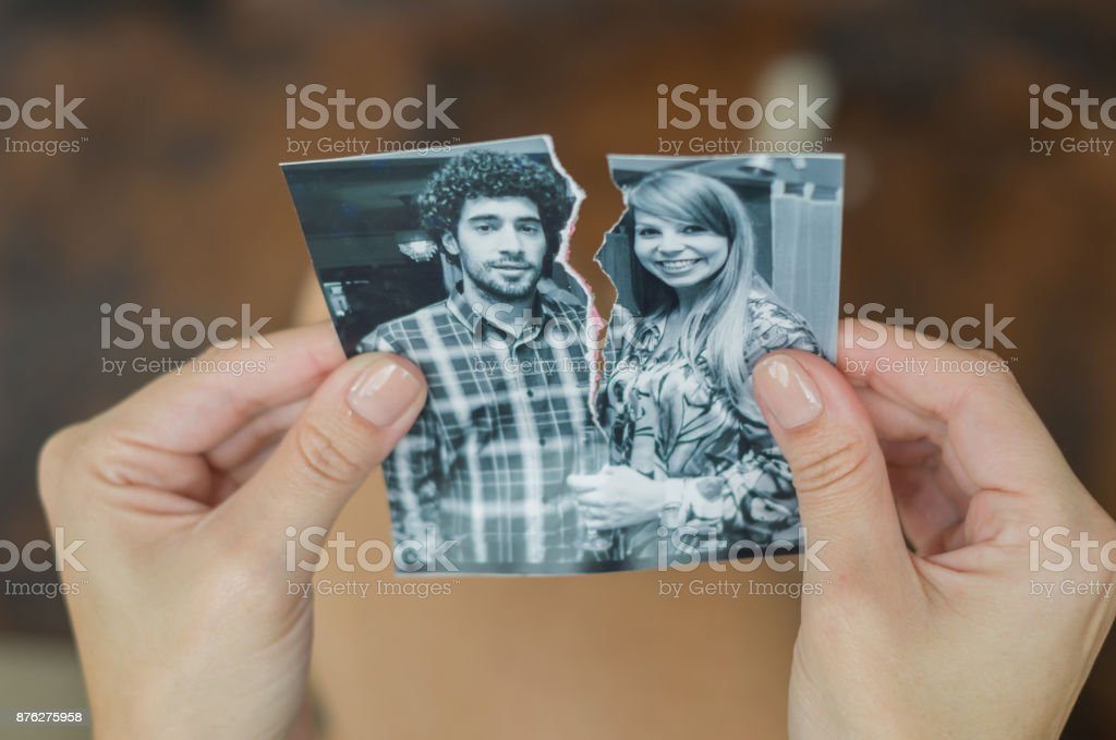 Great concept of divorce. stock photo