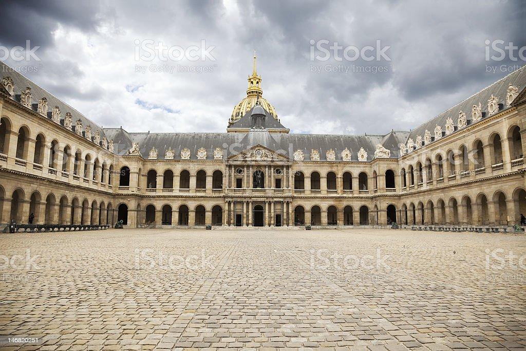 Great Court of Les Invalides complex, Paris stock photo