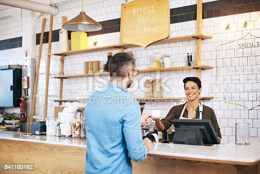 597640822 istock photo Great customer service is critical to coffee shop success 841180162