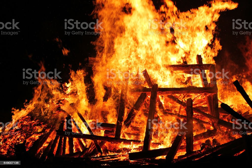 A great dangerous fire stock photo