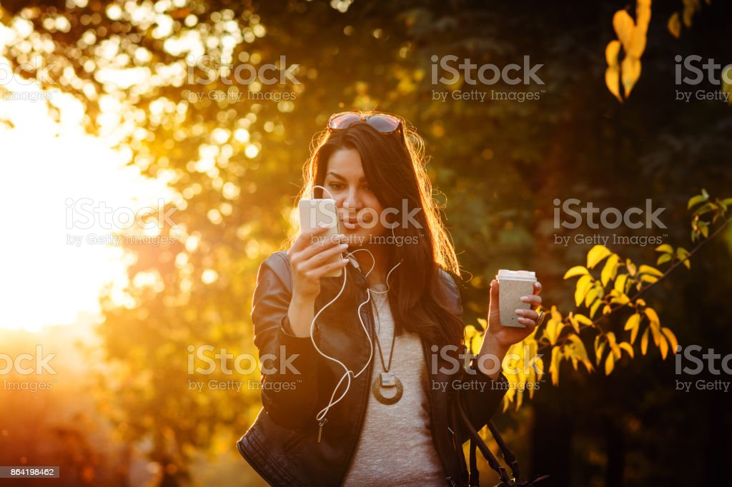 Great day for a walk and shopping royalty-free stock photo