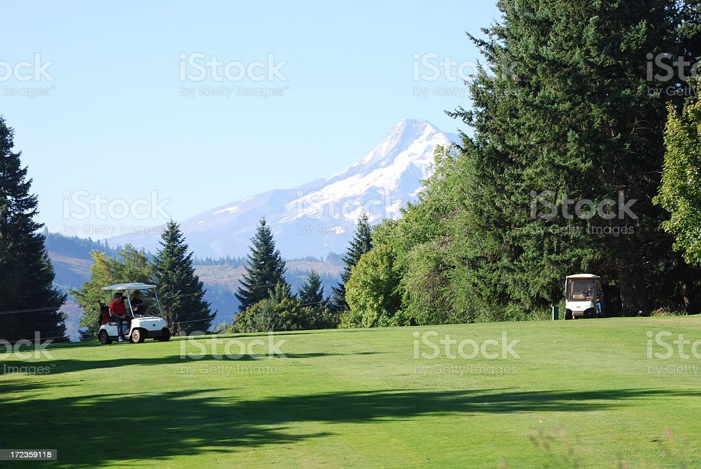 Great day for golfing royalty-free stock photo