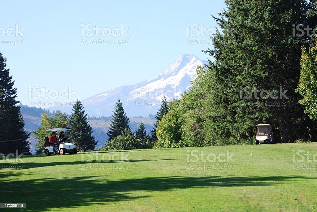 Gran día para jugar golf foto de stock libre de derechos