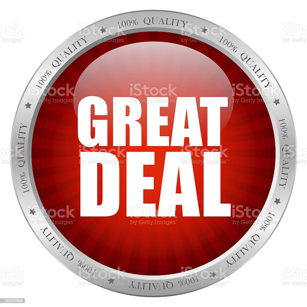 Great deal icon royalty-free stock photo