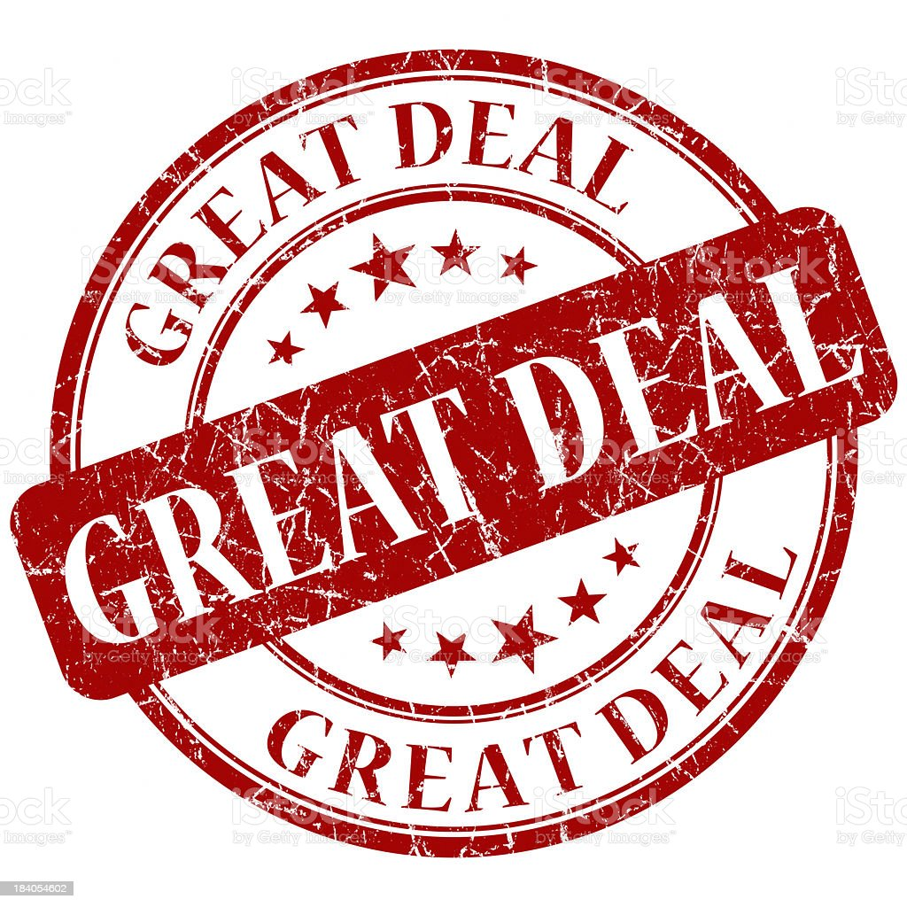 great deal round red stamp royalty-free stock photo