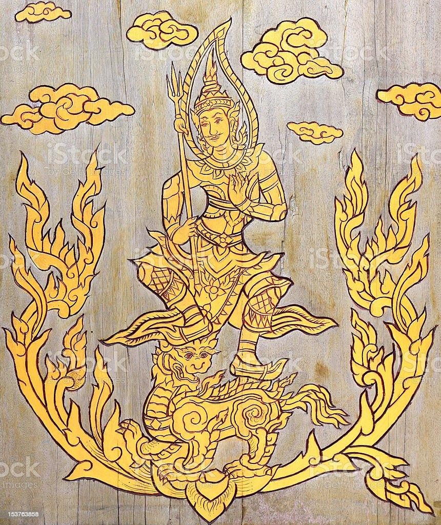 great deity carve royalty-free stock photo