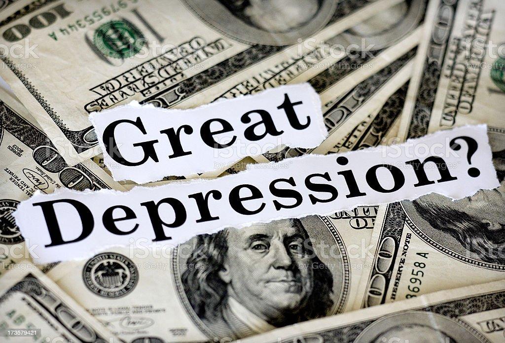 great depression royalty-free stock photo