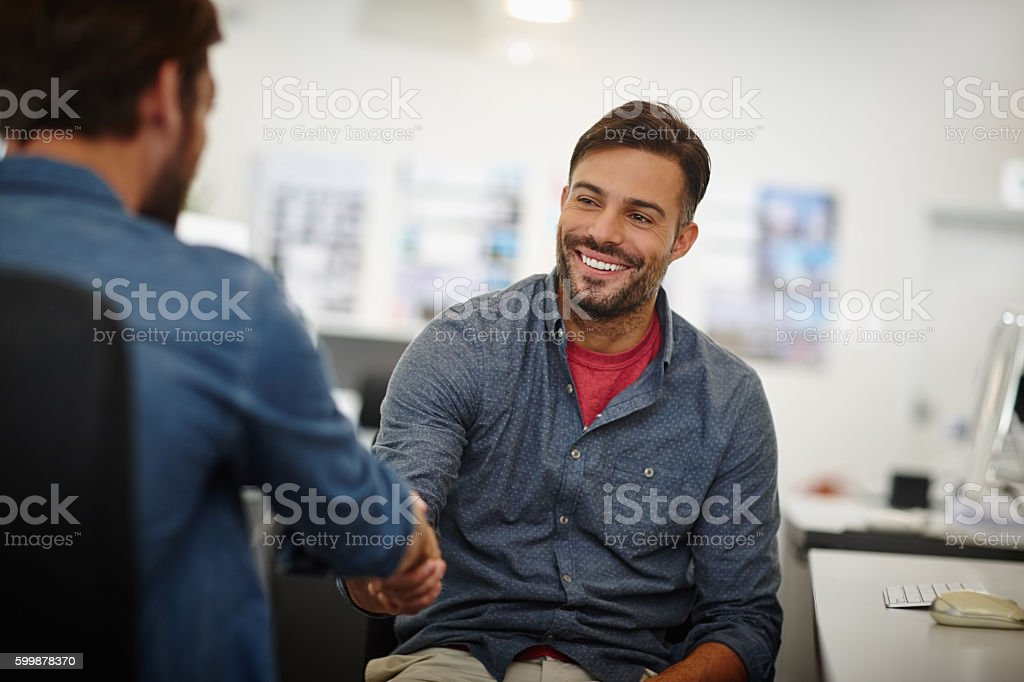 Great doing business with you! stock photo