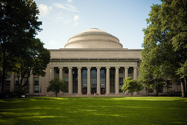 Great Dome overlooking Killian Court at Massachusetts Institute of Technology stock photo