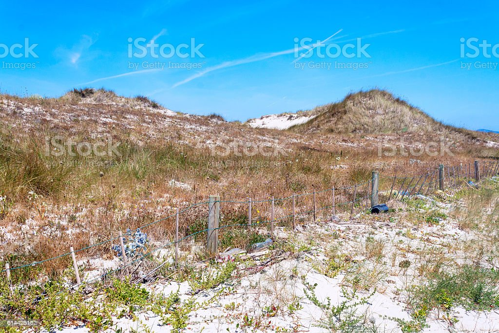 Great dune in Areoso island - foto de stock