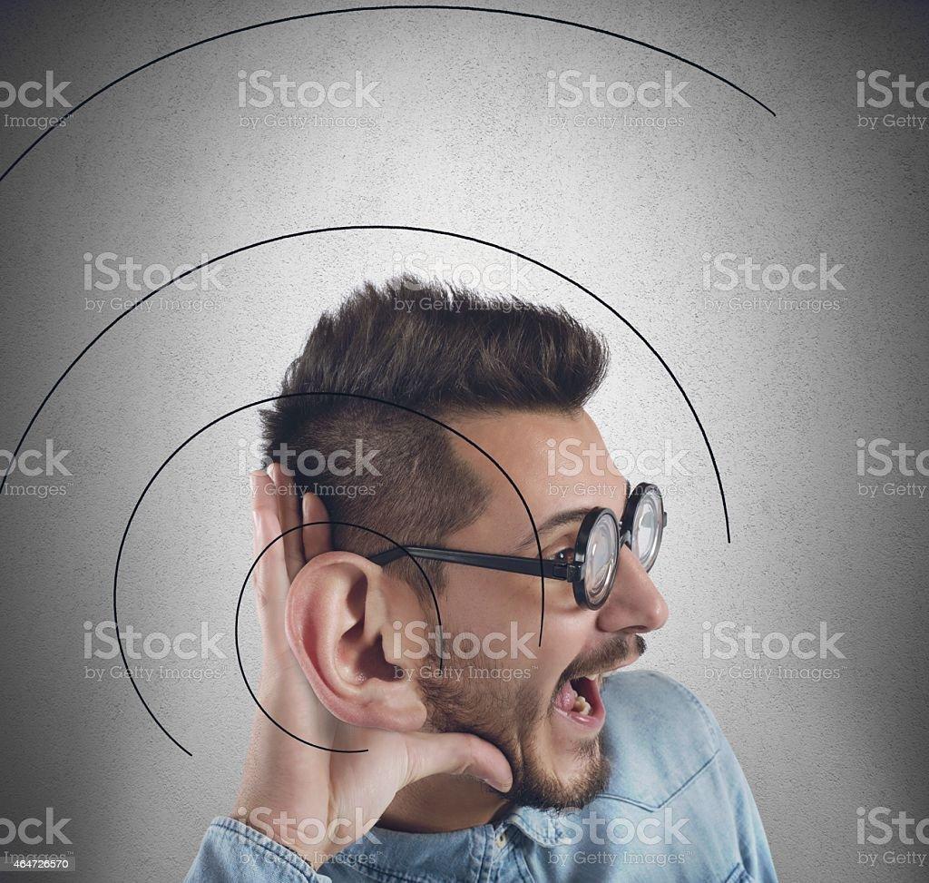 Great ear stock photo