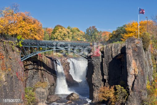 The Great Falls in Paterson NJ is the second largest falls on the East Coast.
