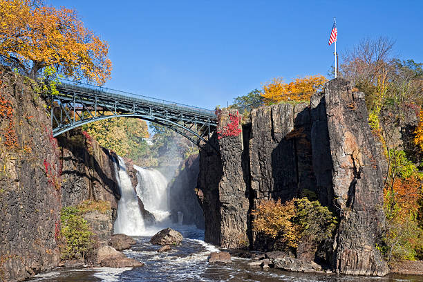 Great Falls in Paterson New Jersey stock photo