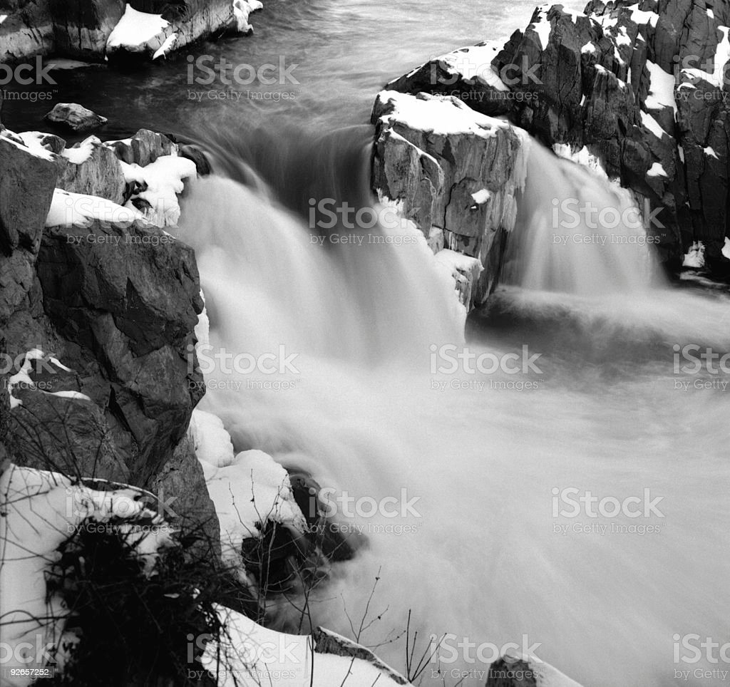 Great Falls in Winter royalty-free stock photo
