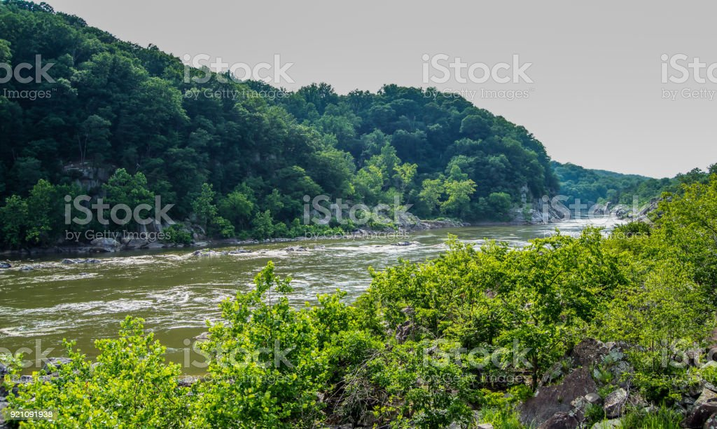 Great Falls Maryland stock photo