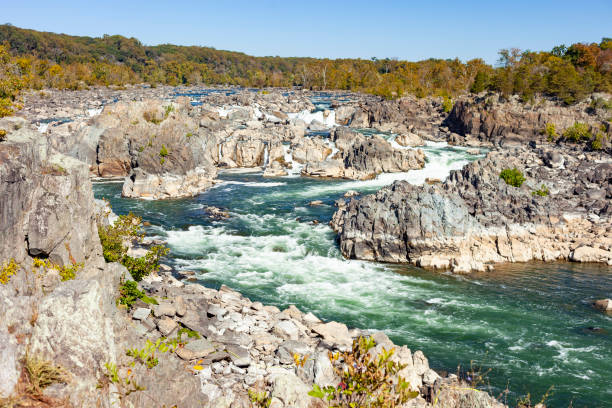 Great Falls National Park In Fairfax, Virginia stock photo