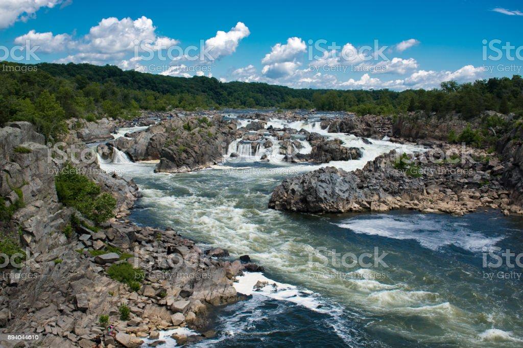 Great Falls National Park Potomac River Aquatic Sport Stock Photo