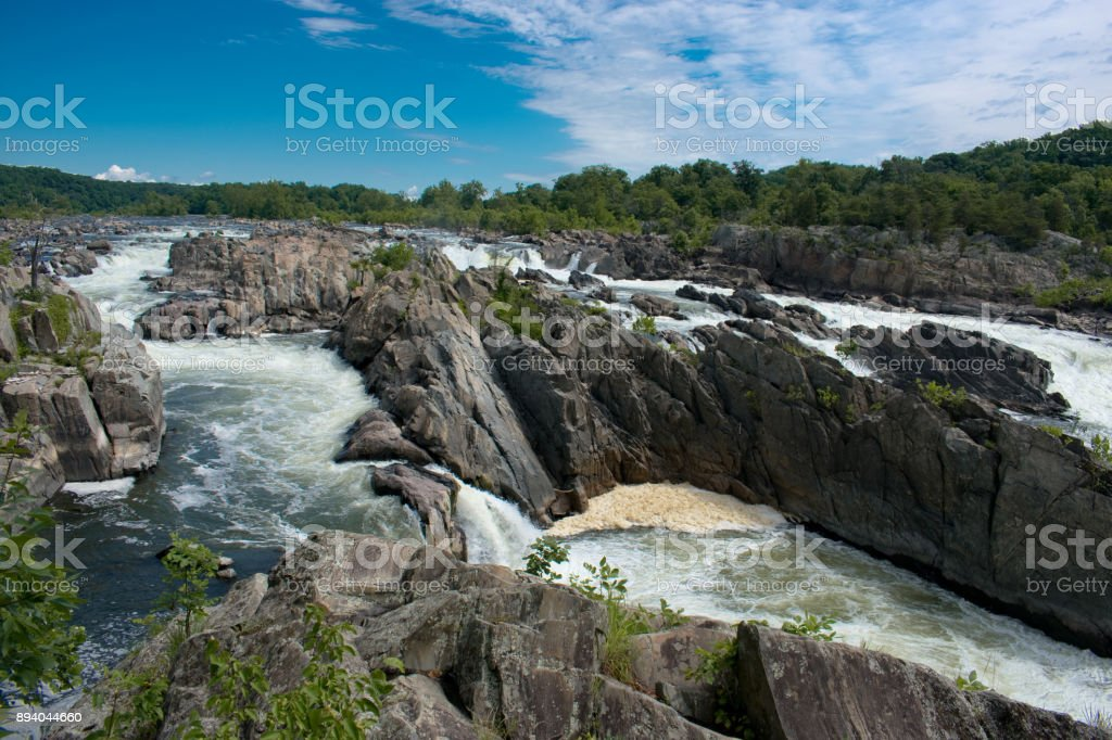 Great Falls National Park stock photo