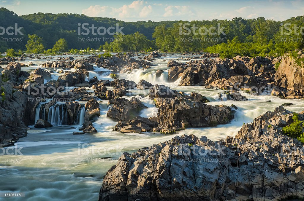 Great Falls of the Potomac stock photo