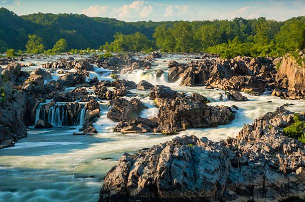 great falls del potomac - riserva naturale parco nazionale foto e immagini stock