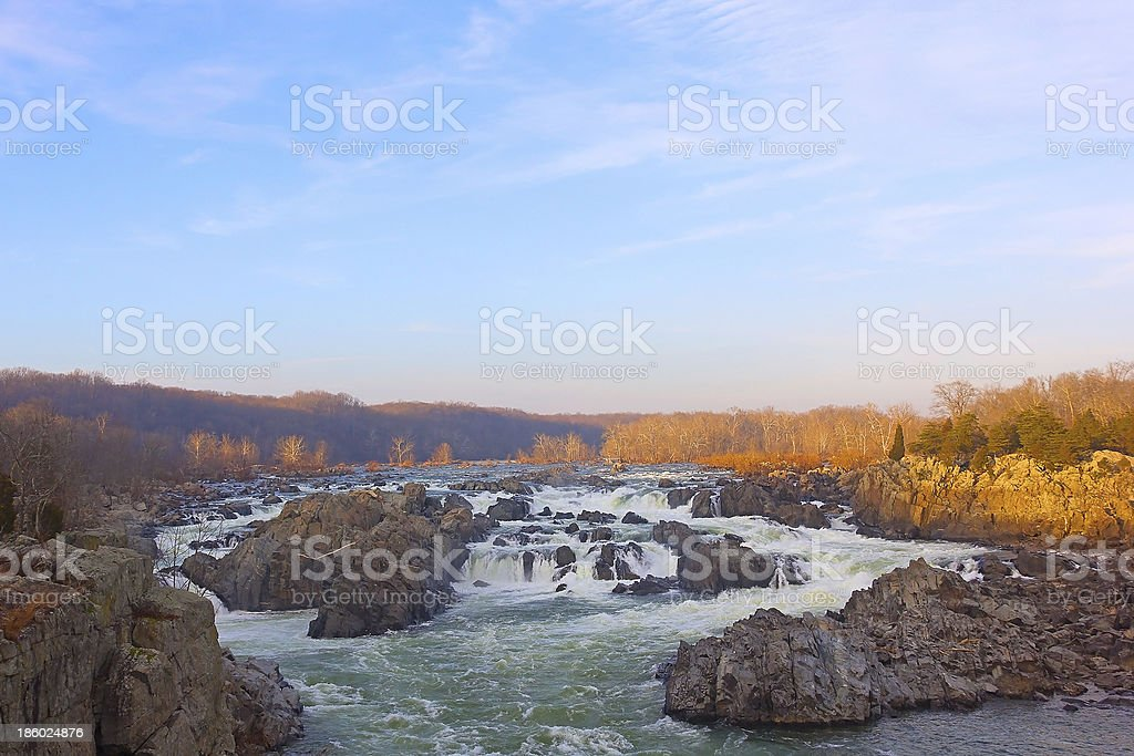 Great Falls on Potomac River in Virginia and Maryland, USA royalty-free stock photo