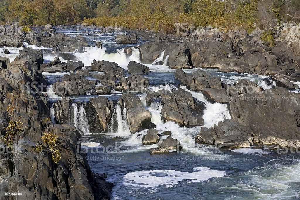 Great Falls on Potomac River in Virginia near DC stock photo