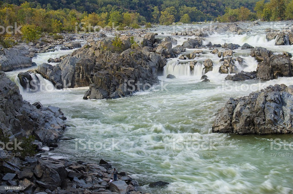 Great Falls on Potomac River in Virginia USA stock photo