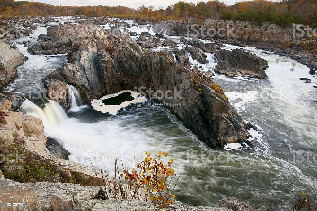 Great Falls on the Potomac River stock photo