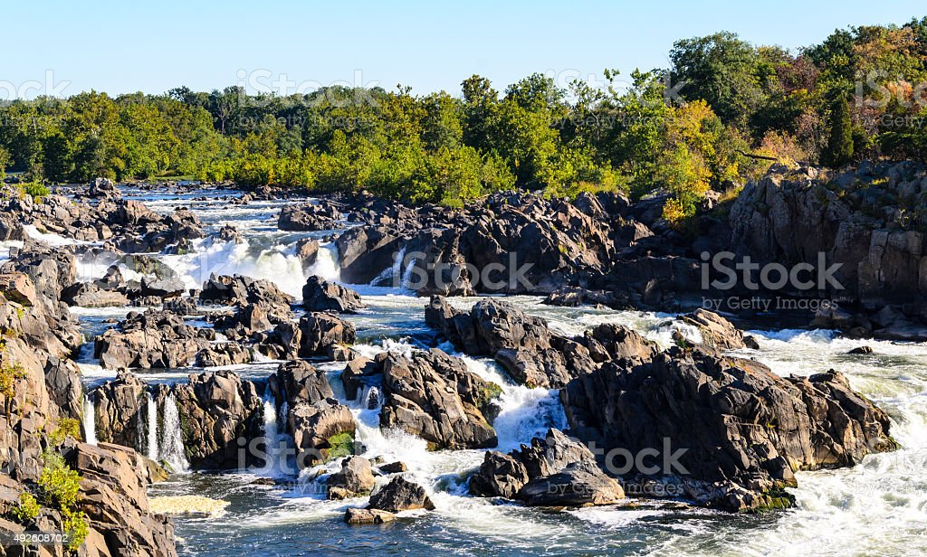 Great Falls Park stock photo