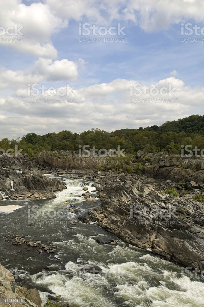 Great Falls, Vertical royalty-free stock photo