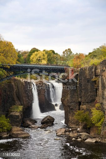 Great Falls in Paterson, New Jersey with Aqueduct.