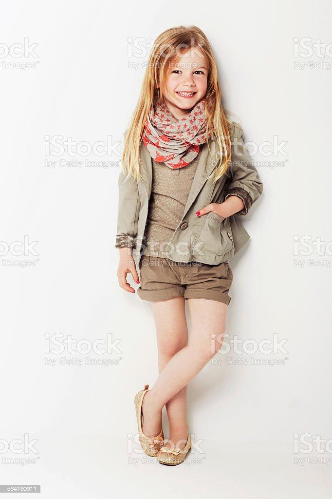 Great fashion sense for a small person stock photo