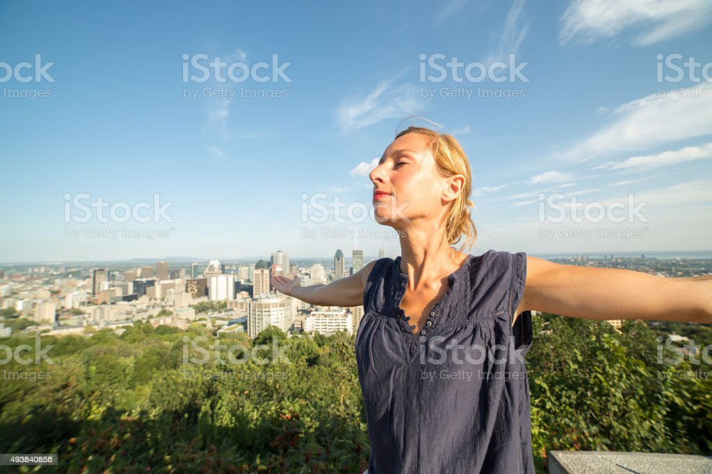 Great feelings in Montreal stock photo
