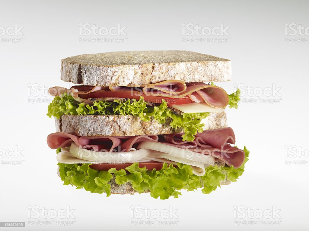 Great fresh sandwiches royalty-free stock photo