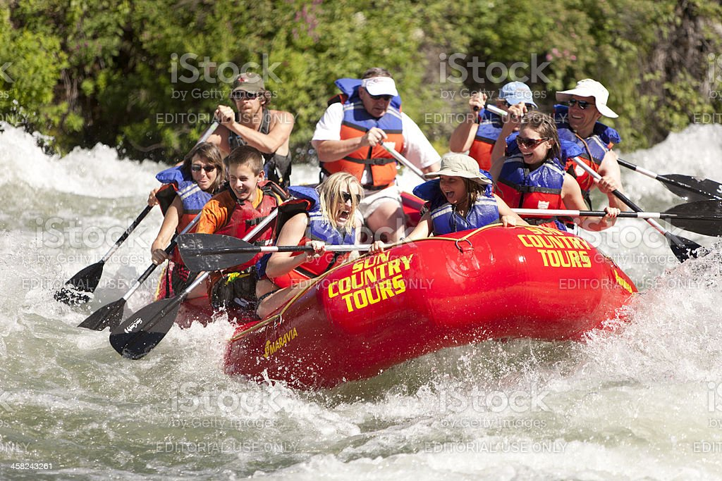 Great Fun Riding the Rapids royalty-free stock photo