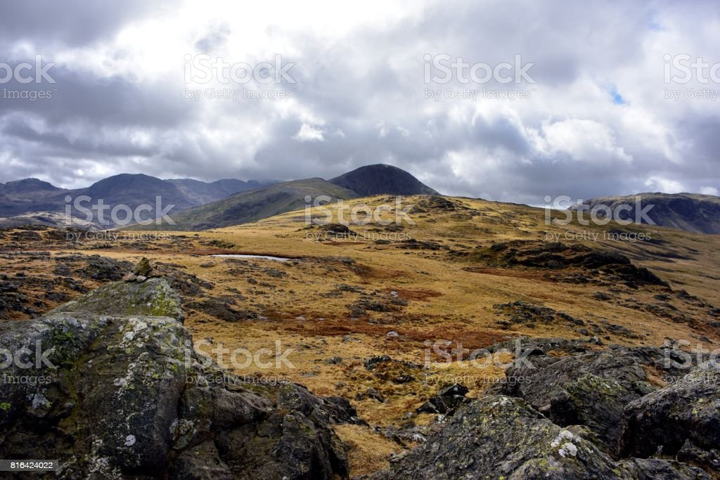 Great Gable from Grey Knotts stock photo