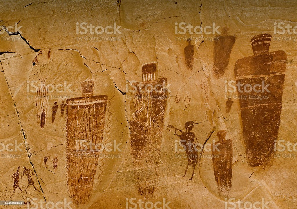 Great Gallery-Horseshoe Canyon royalty-free stock photo