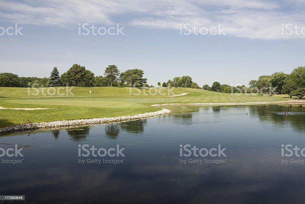 Great Golf Hole royalty-free stock photo