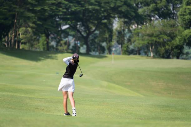 Great golf shot stock photo