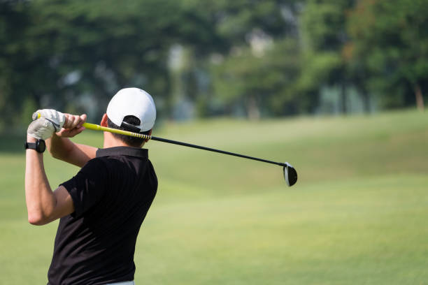 great golf shot - golf stock photos and pictures