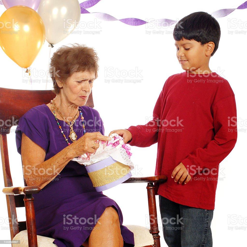 Great Grandma's Birthday Gift royalty-free stock photo