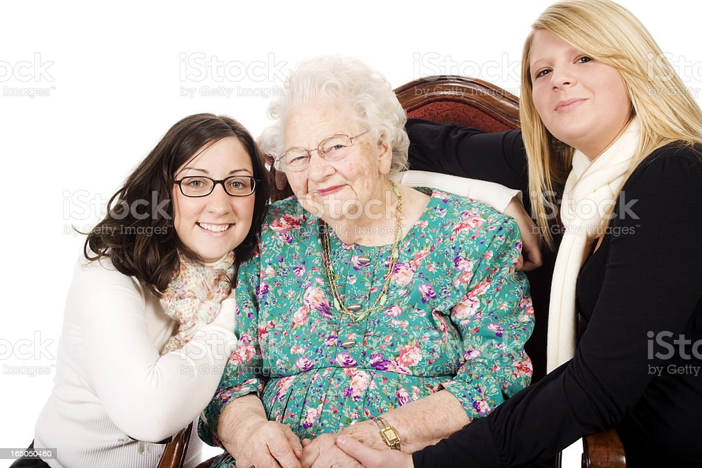 Great GrandMother and Granddaughters  XXL stock photo
