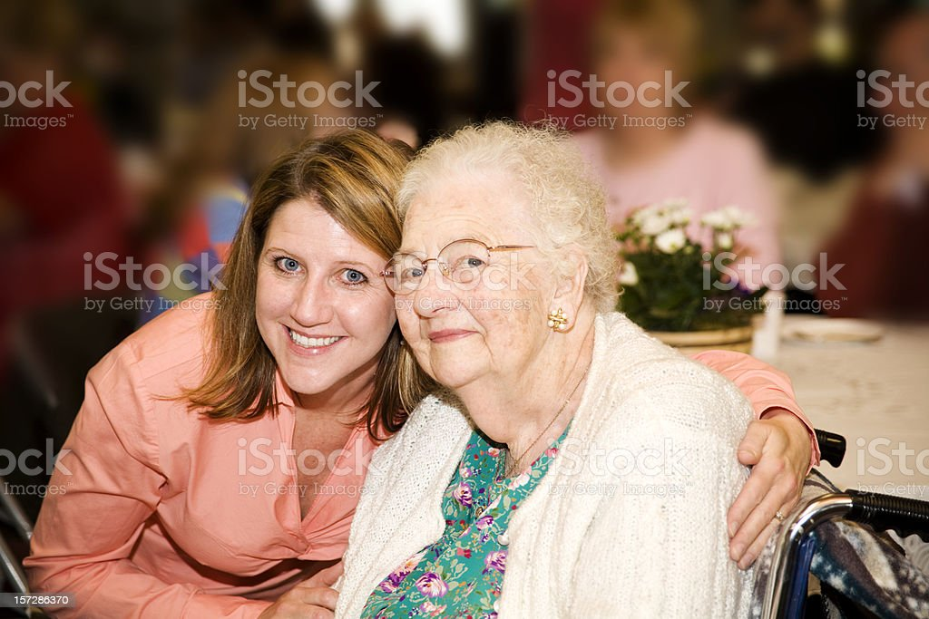 Great Grandmothers 90th birthday party royalty-free stock photo