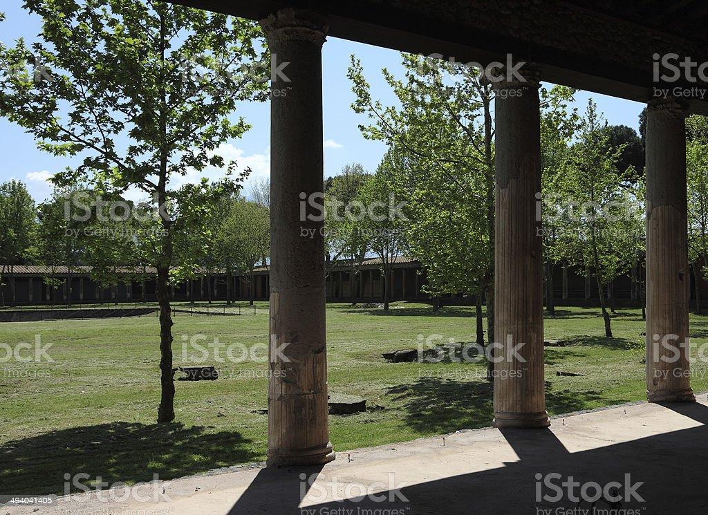great gym Pompei royalty-free stock photo